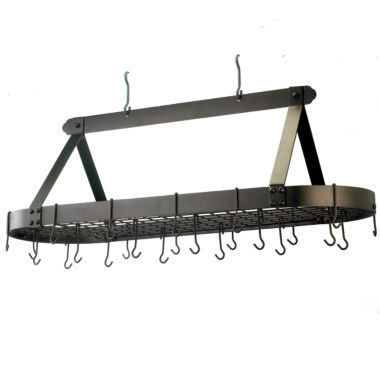 jcpenney.com | Old Dutch Oiled Bronze Oval Hanging Pot Rack withGrid and 24 Hooks