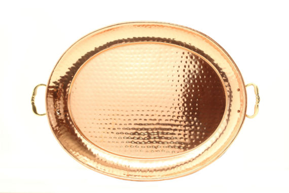 jcpenney.com | Old Dutch Hammered Décor Copper Oval Tray with Cast Brass Handles