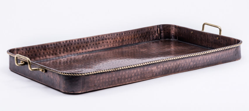 jcpenney.com | Old Dutch Hammered Antique Copper Oblong Tray withCast Brass Handles