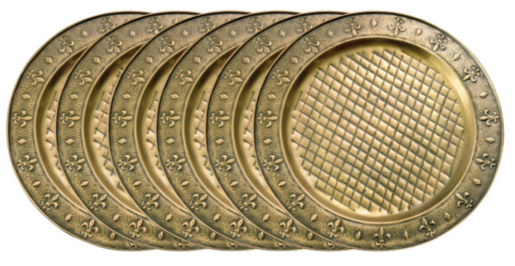 jcpenney.com | Old Dutch 13in Antique Brass Charger Plates  Set of 6