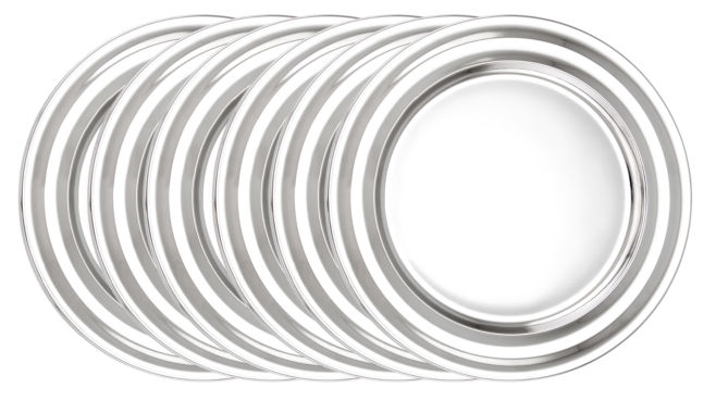 jcpenney.com | Old Dutch 13in Stainless Steel Collar Rim ChargerPlates Set of 6