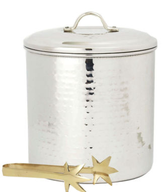 jcpenney.com | Old Dutch Hammered Stainless Steel Ice Bucket withBrass Tongs 3 Qt