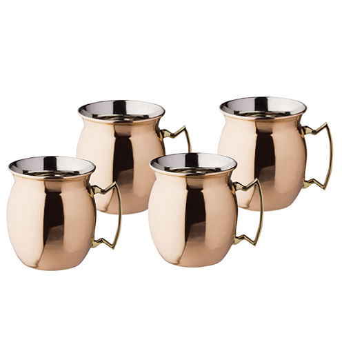 Old Dutch 16 Oz Solid Copper Flared Moscow Mule Mugs Set of 4
