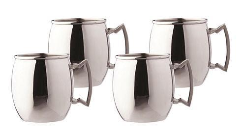 Old Dutch 16 Oz Steelii Stainless Steel Moscow Mule Mugs Set of 4
