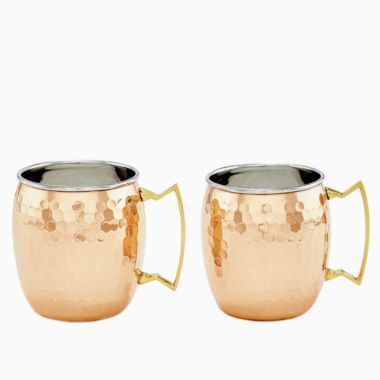 jcpenney.com | Old Dutch Two Ply Hammered Solid Copper and Stainless Steel 16 Oz Moscow Mule Mugs Set of 2