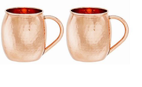 Old Dutch Hammered Solid Copper Moscow Mule Mug 16Oz Set of 2