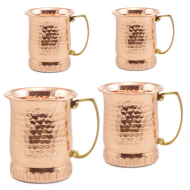 jcpenney.com | Old Dutch 17Oz Hammered Solid Copper Sui Generis Moscow Mule Mugs Set of 4