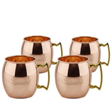 jcpenney.com | Old Dutch 16 Oz Solid Copper Cheers! Moscow Mule Mugs Set of 4