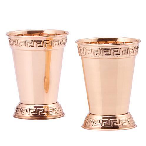 Old Dutch Solid Copper 12 Oz Mint Julep Cups Set of 2