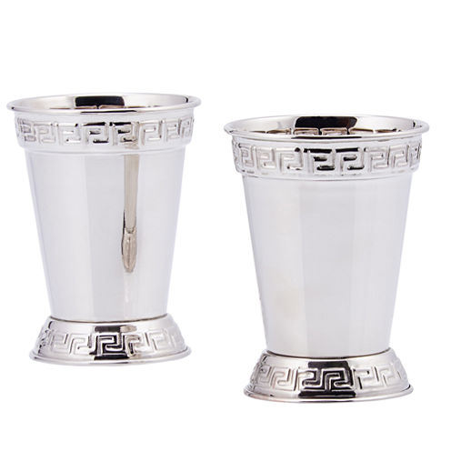 Old Dutch Nickel Plated 12 Oz Mint Julep Cups Setof 2