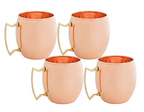 Old Dutch 16 Oz Solid Copper Moscow Mule Mugs Setof 4