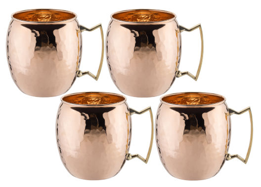 jcpenney.com | Old Dutch 16 Oz Solid Copper Moscow Mule Mugs Hammered Finish Set of 4