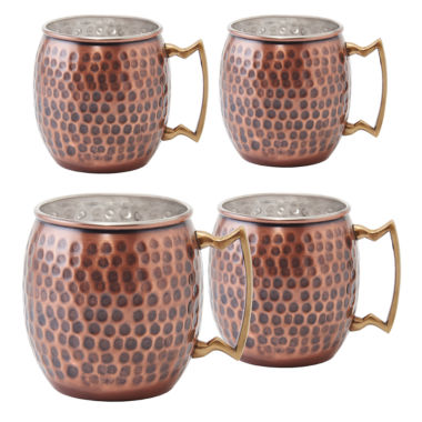 jcpenney.com | Old Dutch Hammered 4-pc. Moscow Mule Mug