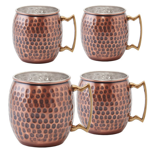 Old Dutch Hammered 4-pc. Moscow Mule Mug