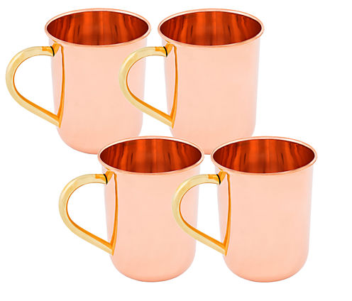 Old Dutch 14 Oz Solid Copper Straight Sided MoscowMule Mugs Set of 4