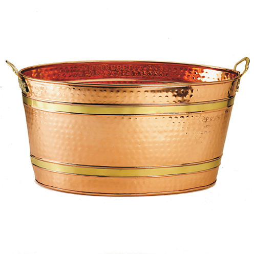 Old Dutch Oval Décor Copper Party Tub 11 Gal