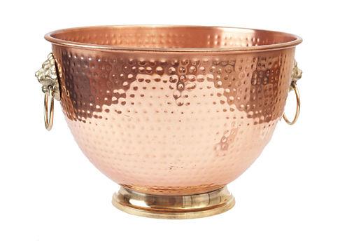 Old Dutch Décor Copper Lion's Head Beverage Cooler 5 Gal