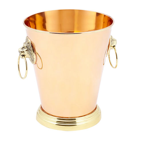 Old Dutch Solid Copper Lion Head Champagne Cooler1 Gal