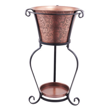 jcpenney.com | Old Dutch Solid Copper Etched Beverage Tub with Stand 5 Gal