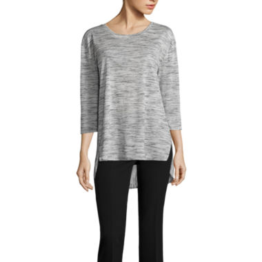 jcpenney.com | Worthington Edition 3/4 Sleeve Side Slit Top