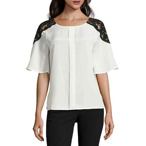 Worthington Lace Shoulder Top