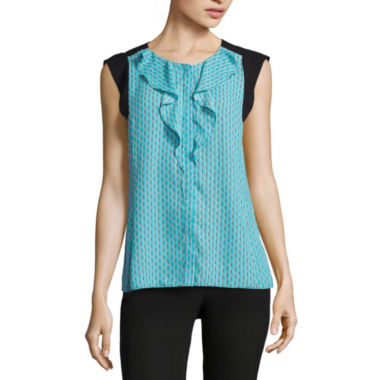 jcpenney.com | Worthington Sleeveless Crew Neck Woven Blouse