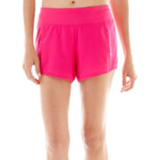 Xersion™ Stretch Woven Shorts with Boyshort Liner