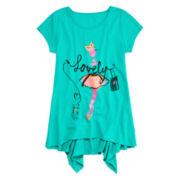 Total Girl® Shark Bite Hem Tunic - Girls 7-16 and Plus