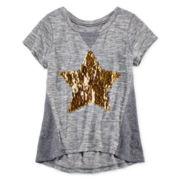 Total Girl® Short-Sleeve Sequin Tee – Girls Plus
