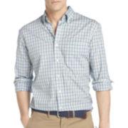 IZOD® Long-Sleeve Tattersall Woven Shirt