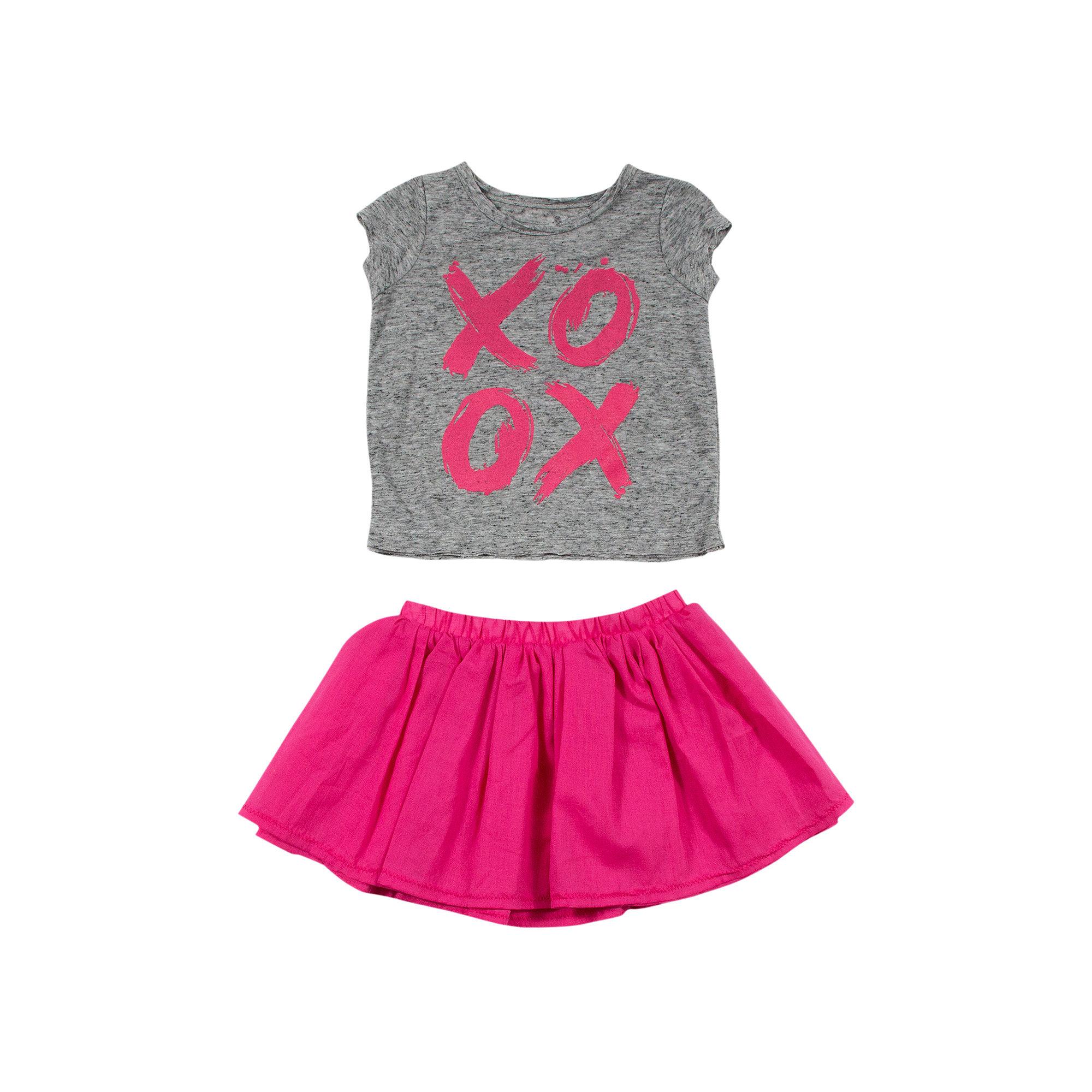 Amy Coe XOXO Burnout Tee and Ruffle Skirt Set - Baby Girls 3m-24m plus size,  plus size fashion plus size appare