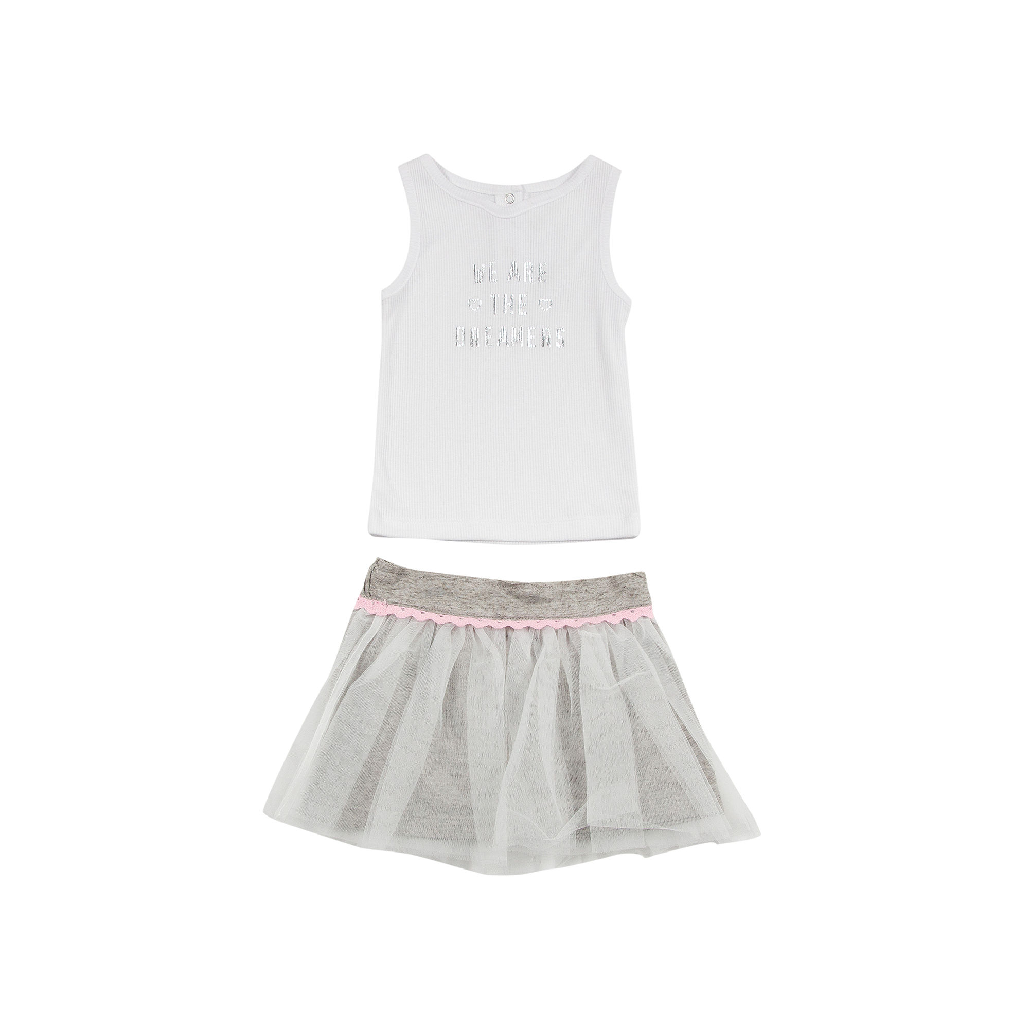 Amy Coe Dreamer Tank Top and Tulle Skirt Set - Baby Girls 3m-24m plus size,  plus size fashion plus size appare