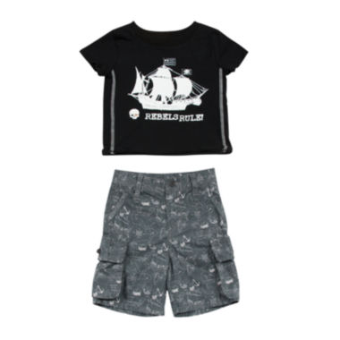 jcpenney.com | Amy Coe 2-pc. Tee and Shorts Set - Baby Boys 3m-24m