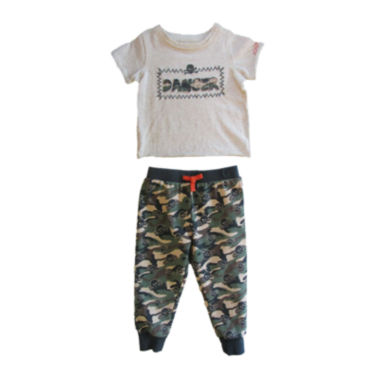 jcpenney.com | Amy Coe Danger Graphic Tee and Pants Set - Baby Boy 3m-24m