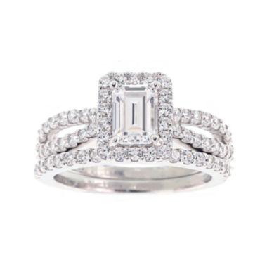 diamonart 174 cubic zirconia sterling silver emerald cut