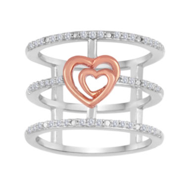 jcpenney.com | ForeverMine® 1/5 CT. T.W. Diamond Two-Tone Open-Cage Ring