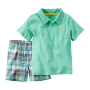 Carter's® 2-pc. Polo and Shorts Set - Baby Boys newborn-24m