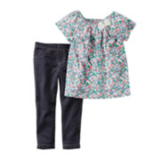 Carter's® Floral Shirt and Leggings Set - Baby Girls newborn-24m