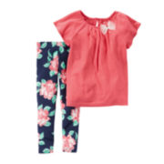 Carter's® 2-pc. Top and Leggings Set - Baby Girls newborn-24m