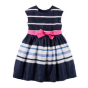 Carter's® Striped Sateen Dress - Toddler Girls 2t-5t