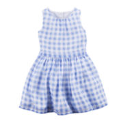 Carter's® Gingham Crepe Dress - Toddler Girls 2t-5t