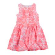 Carter's® Floral Print Crepe Dress - Preschool Girls 4-6x