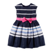 Carter's® Striped Sateen Dress - Preschool Girls 4-6x