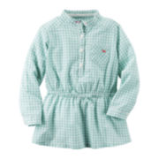 Carter's® Mint Check Tunic - Preschool Girl 4-6x