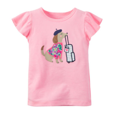 jcpenney.com | Carter's® Flutter-Sleeve Tee - Preschool Girls 4-6x