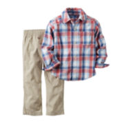 Carter's® Long-Sleeve Shirt and Khaki Pants Set - Toddler Boys 2t-5t