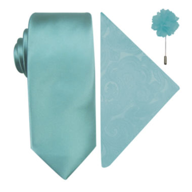 jcpenney.com | JF J. Ferrar® Solid Tie, Pocket Square and Lapel Pin Set