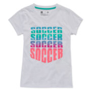 Xersion™ Short-Sleeve V-Neck Graphic Tee - Girls 7-16 and Plus
