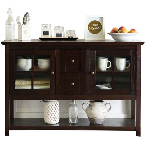 """Bailey 52"""" Wood Console Table Entertainment Center"""