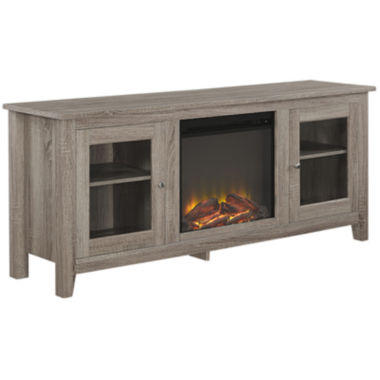 "jcpenney.com | Winn 58"" Electric Fireplace TV Stand"